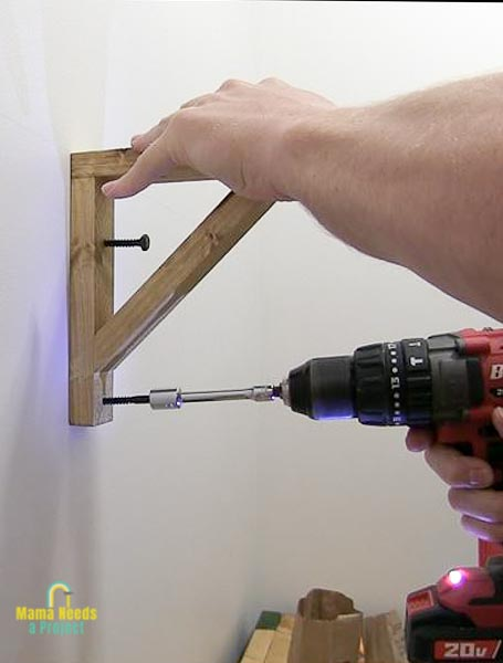 use lag screws to attach to wall