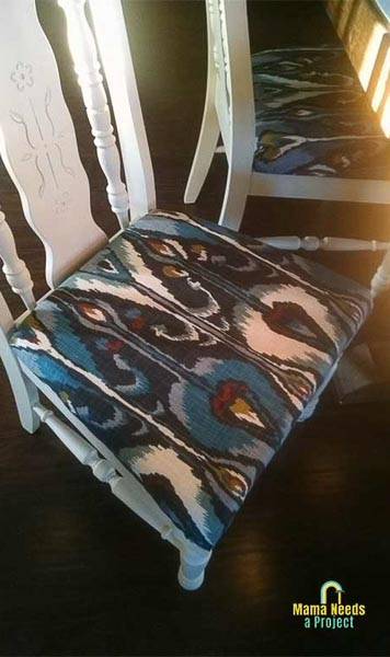 reupholstered dining room chair seat