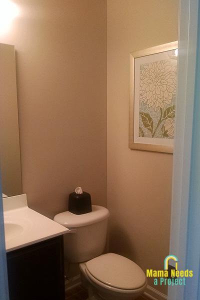 half bathroom update before picture