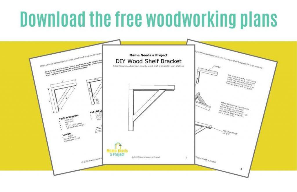woodworking plans to build diy wood shelf brackets