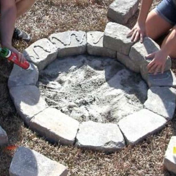 how to build a diy stone fire pit
