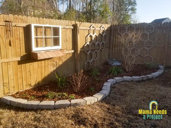 flower bed after preparing for spring
