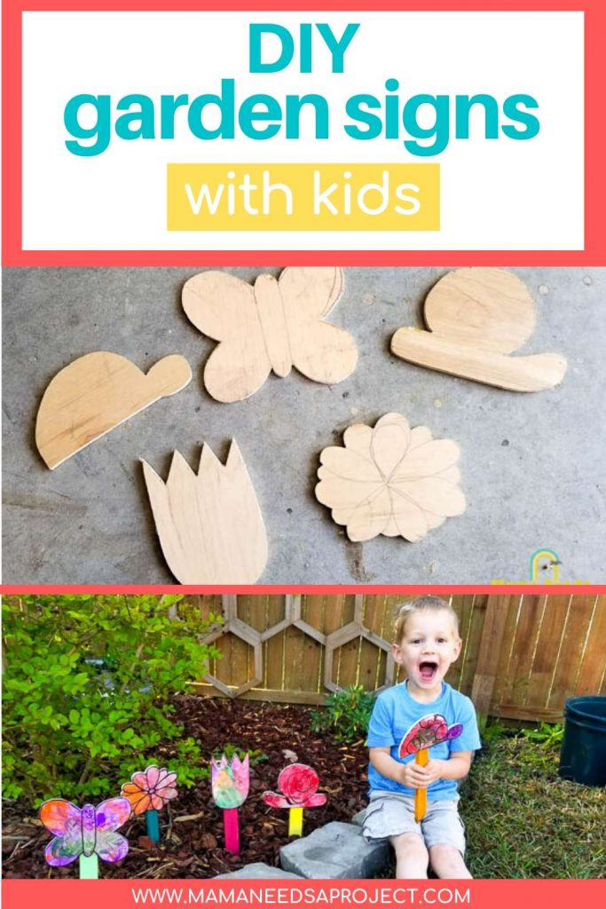 diy garden signs with kids pinterest image