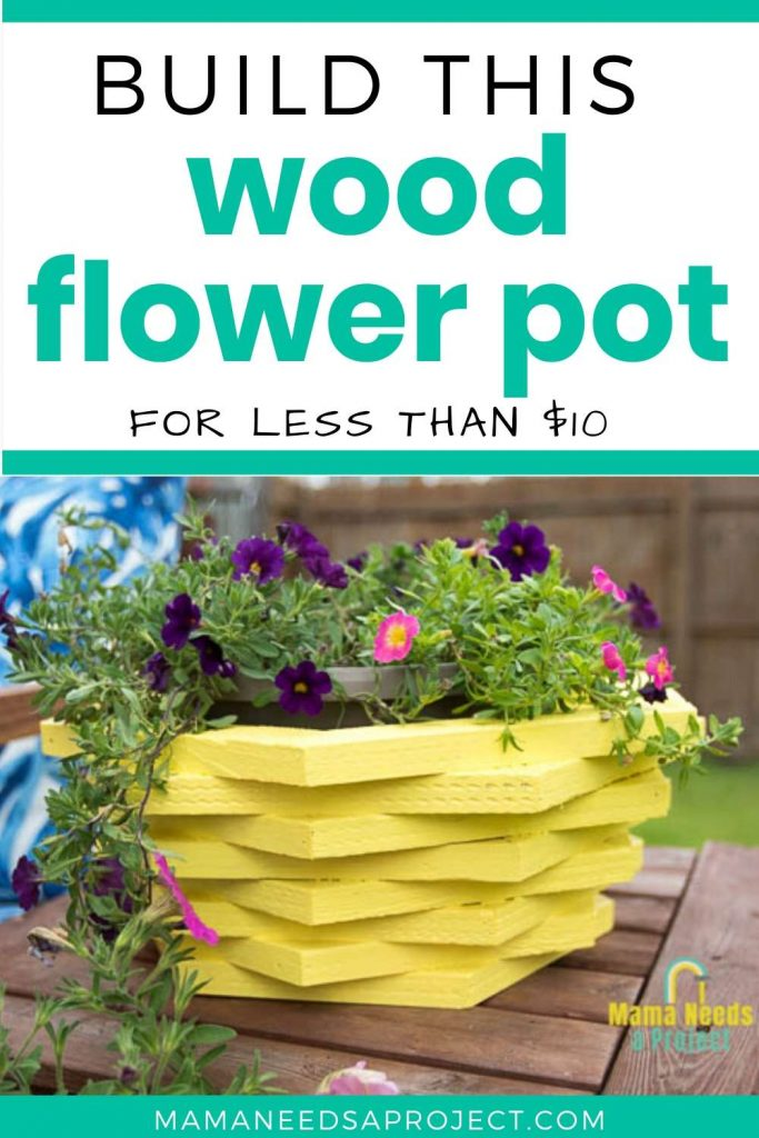 build this wood flower pot for less than $10