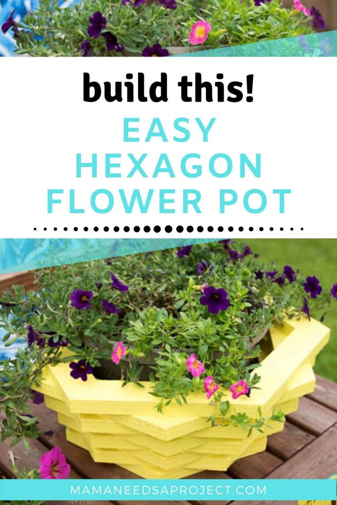 build this easy hexagon flower pot
