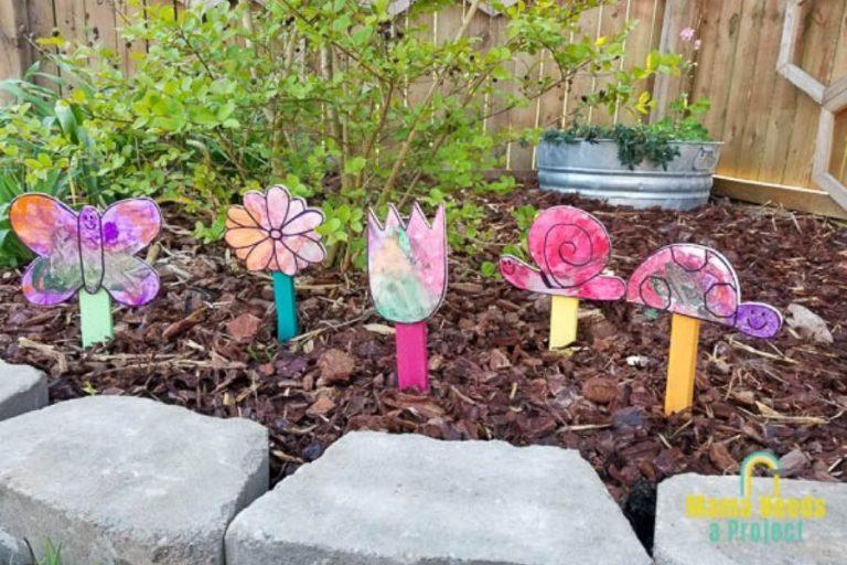Scrap Wood Garden Signs | Easy DIY with Kids