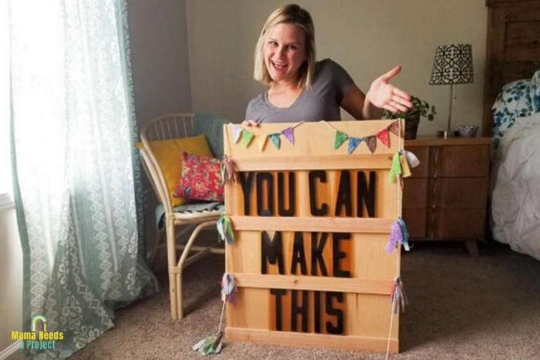 How to make a big letter board