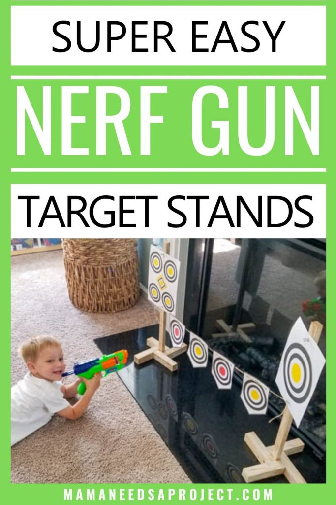 super easy nerf gun target stands
