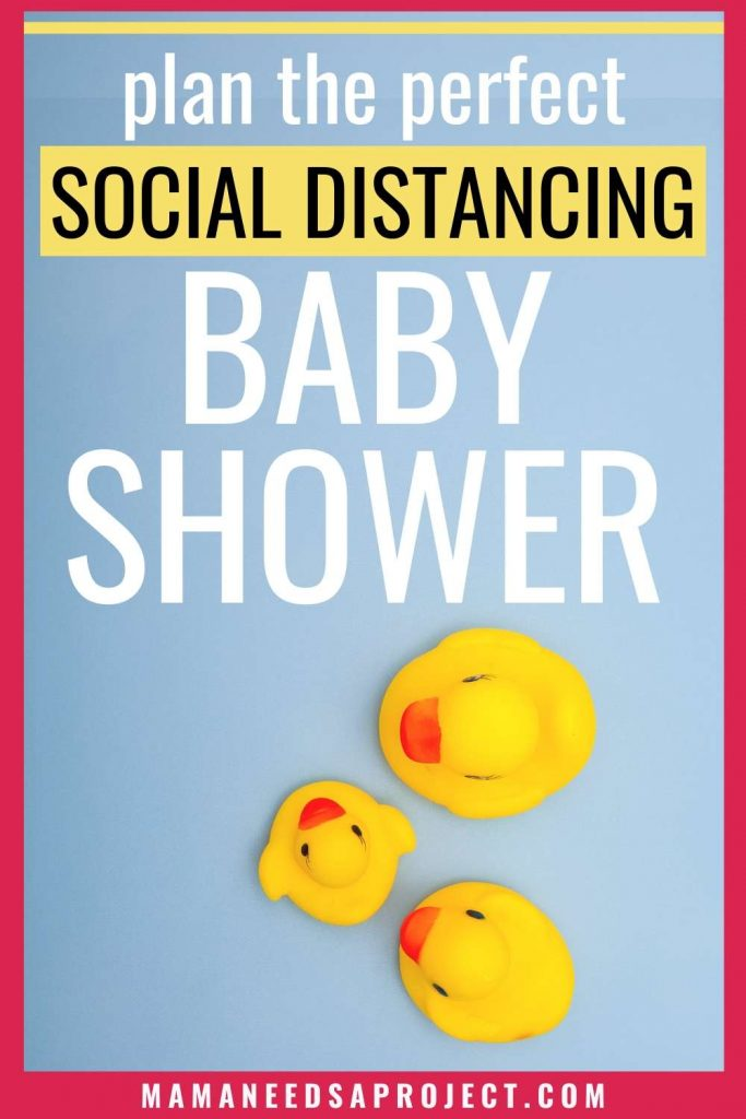 plan the perfect social distancing baby shower