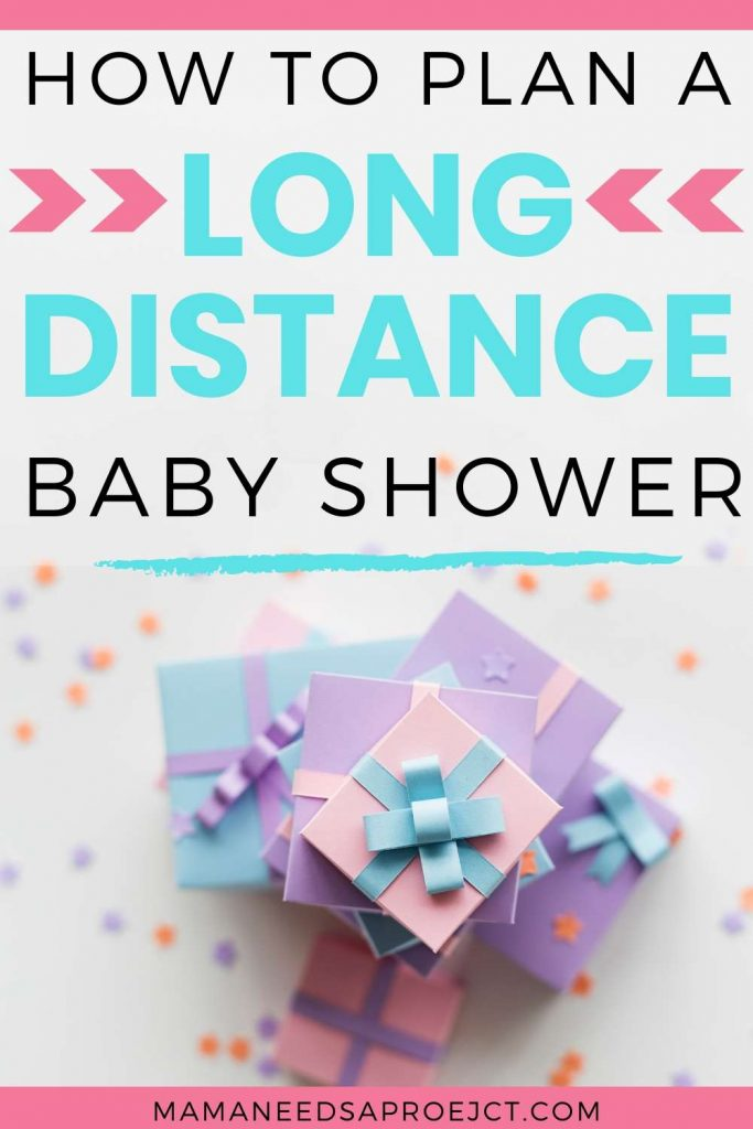 how to plan a long distance baby shower