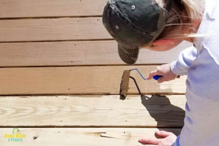 How We Restained Our Wood Deck   Deck Cleaning, Prep and Staining
