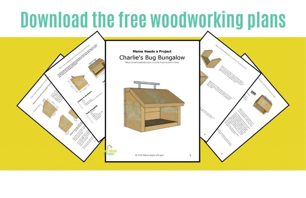 download free woodworking plans for diy bug house