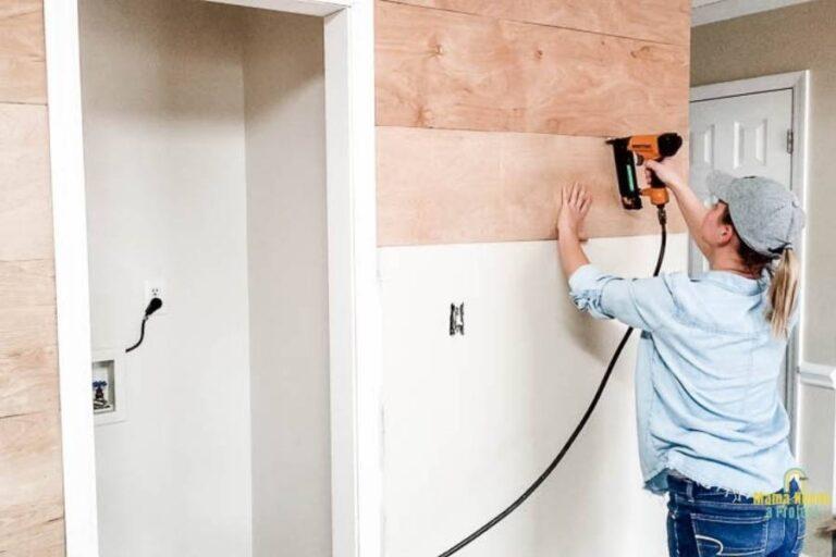 DIY Modern Shiplap Wall