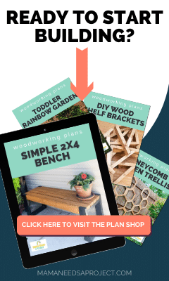 text: ready to start building?', images of printable woodworking plans