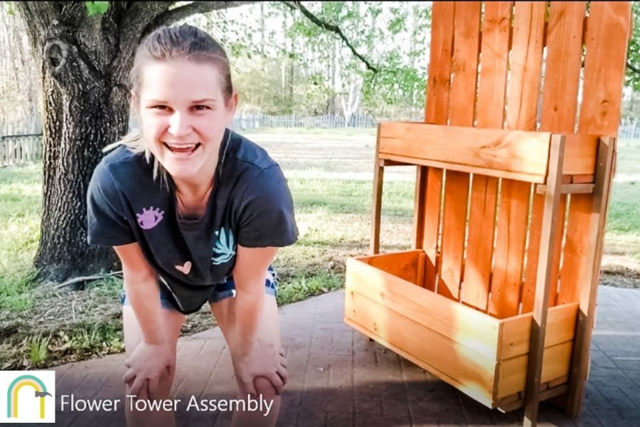 Flower tower assembly