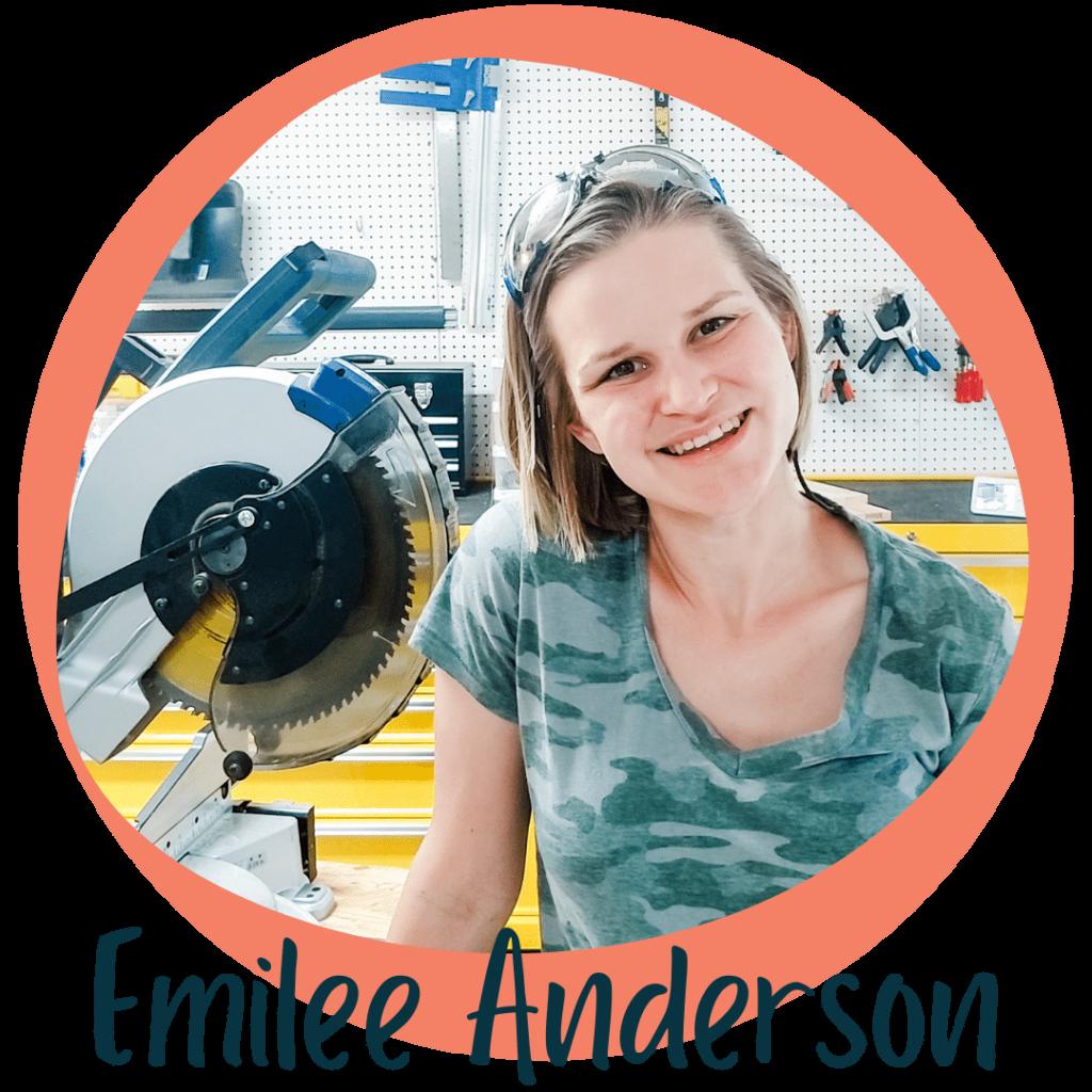 Emilee Anderson Headshot with orange circle border