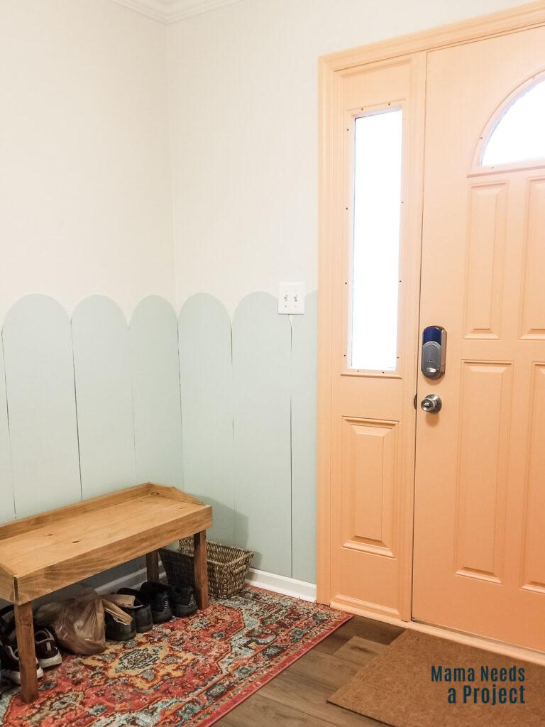 painted inside of front door