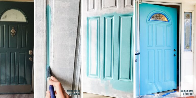 How to Paint a Front Door (without removing it!)