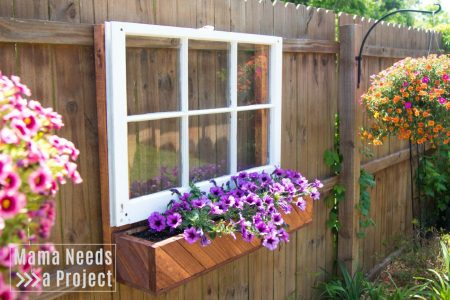 fence mounted flower box unique garden design