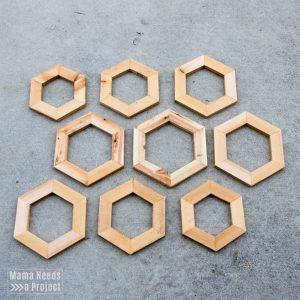 diy pineapple planter woodworking tutorial hexagons