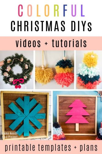 DIY colorful christmas projects with videos, tutorials, free woodworking plans and templates