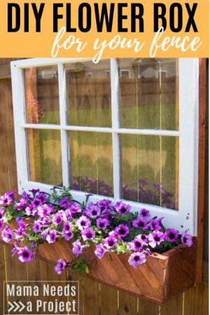 diy flower box for your fence woodworking tutorial pinterest