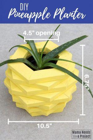 DIY pineapple planter woodworking tutorial measurements