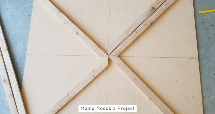 Southwest Wood Quilt Wall Art Tutorial - Find Center of Plywood Backing