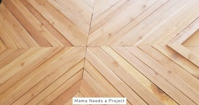 arrange cut cedar pickets on background to create your design