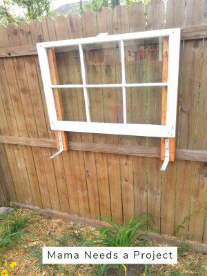 mount brackets to fence for diy cedar fence picket flower box