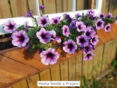 diy cedar picket flower box for fence
